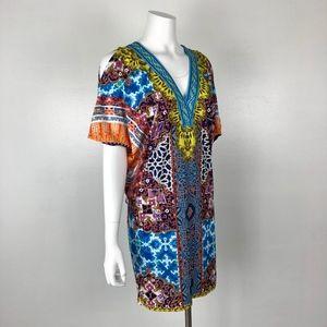 Hale Bob | Cold Shoulder Printed Dress Mini